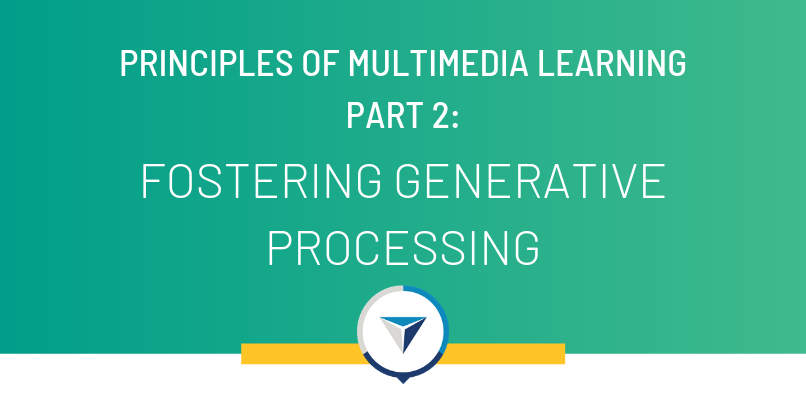 Principles of Multimedia Learning Part 2: Fostering Generative Processing